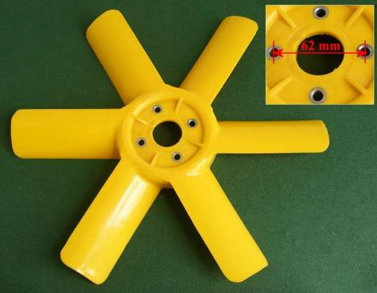 Plastic Fan Blades : Plastic fan blade for the mga