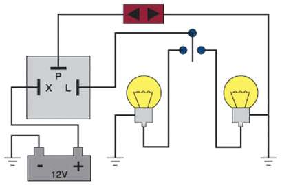 fl75 four way flashers my way, mga 1500 indicator flasher relay wiring diagram at edmiracle.co