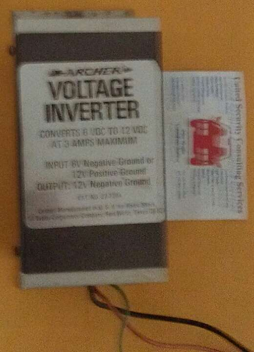 Voltage converter  Negative earth radio in    Positive    earth car