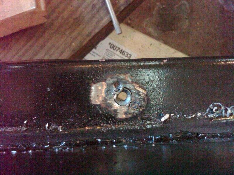 Repairing Floorboard Captive Nuts