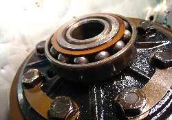 Worn out differential carrier bearing