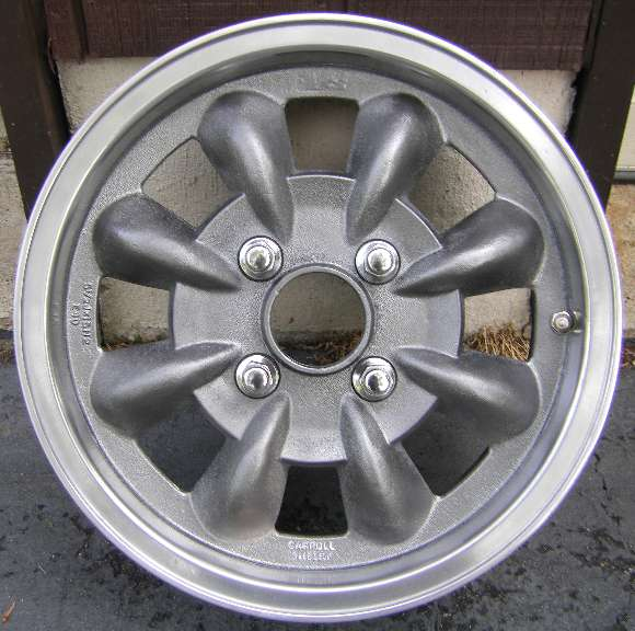 Alternate wheels for the MGA, Shelby Ronal wheels from SAAB