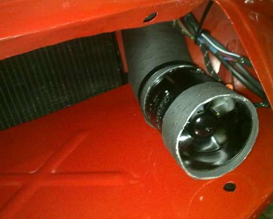 Bilge blower to cool carburetors, 4-inch