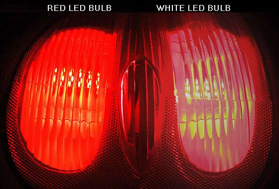 A White LED Produces Many Colors (all Colors Of The Visible Spectrum) To  Make Visible White Light. When Used For A Tail ...