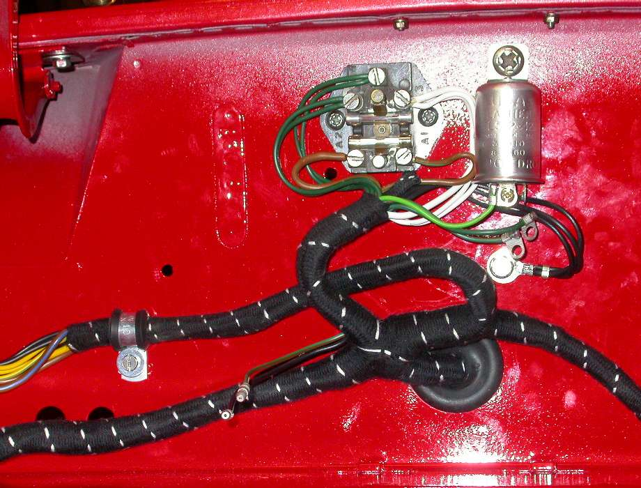 MGA wiring harness installation on