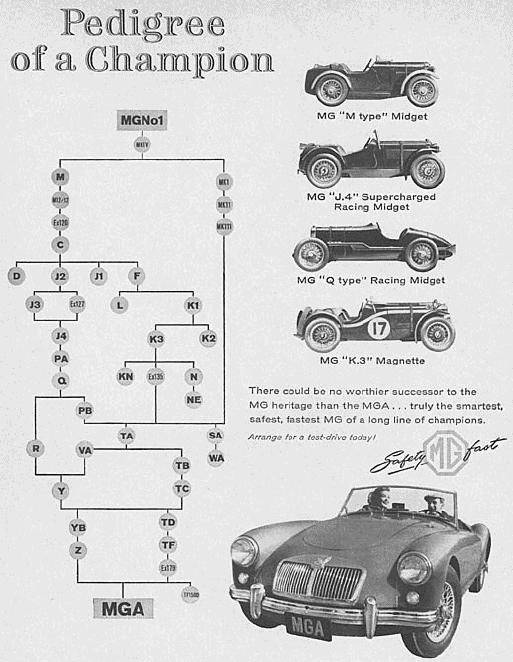 History - Pedigree of the MG Mark